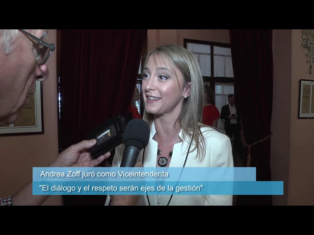 Zoff juró como viceintendenta de Paraná