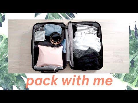Pack with Me Vlog Carry on  ✨Weekend Getaway 2018