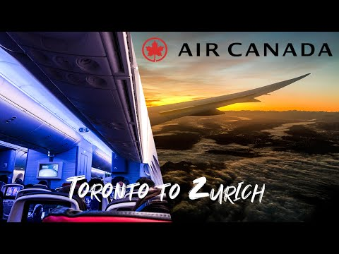 Toronto To Zurich In Air Canada Economy | Full Flight (ft. A BEAUTIFUL Sunrise + An Honest Review)