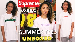 SUPREME WEEK 18 SS20 UNBOXING Summer Tees Styling Haul: Motion Logo, Lizard and Mesh Water Shorts
