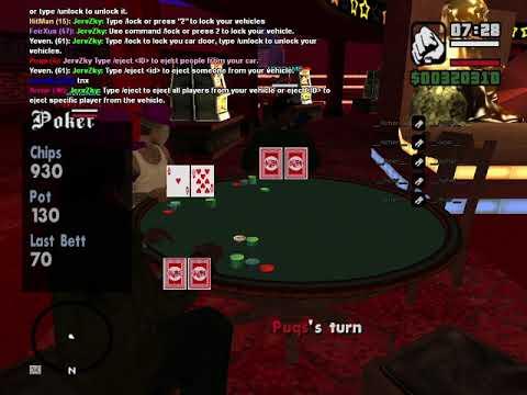 GTA SAMP : Lets play some poker