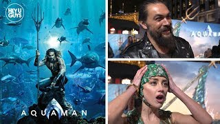 Jason Momoa, Amber Heard, Dolph Lundgren Interviews - Aquaman World Premiere Red Carpet