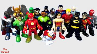 Imaginext DC Super Friends Guess Who Game and Draw the Superheroes Toy Video
