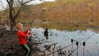Bank fishing for carp and catfish from a four-wheeler. Come fish with me on May 6th!!!