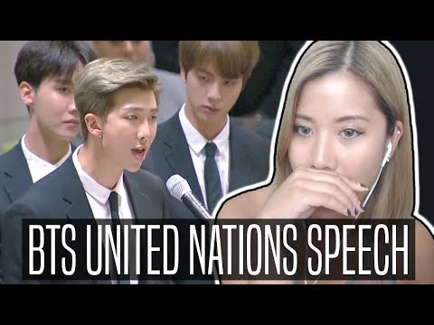 BTS UNITED NATIONS FULL SPEECH REACTION #ENDviolence