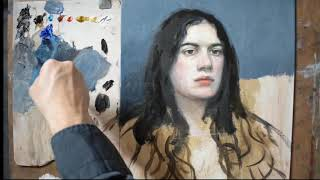 #portrait#painting#colorofbackground#13 part How can I do a background with a correct color?