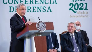 México y Argentina estrechan relación bilateral. Conferencia presidente AMLO