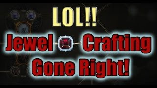 Path of Exile Act4:  Crafting Jewels ROFL!!