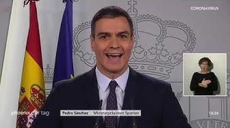 Pedro Sanchéz zur Lage im Kampf gegen das Coronavirus am 17.03.20