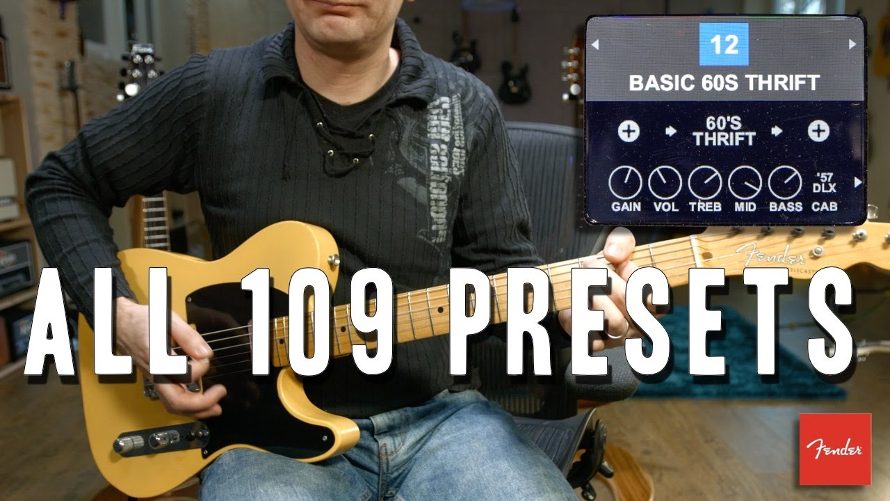 fender mustang gt40 - all 109 presets - youtube