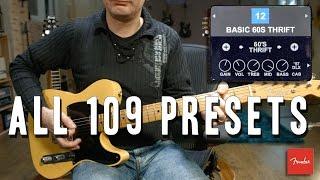 Fender Mustang GT40 - All 109 Presets