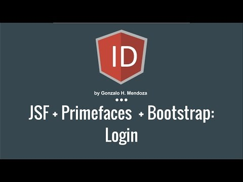 JSF + Primefaces + Bootstrap : Login template - YouTube