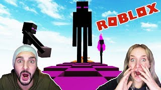 Roblox: FROM MINECRAFT! NINA VS. KAAN! WHO CAN ESCAPE FIRST! Minecraft Obby English