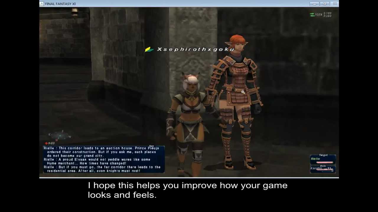FFXI Setup 3: Configure the Game to Suit You