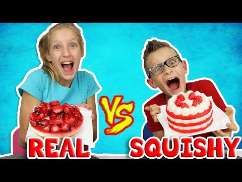 SQUISHY FOOD vs REAL FOOD Challenge!!!