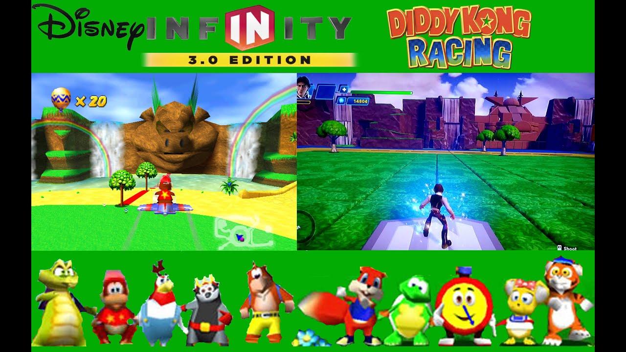 Disney Infinity 30 Timbers Island Diddy Kong Racing Toy Box