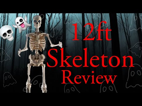 Maniac Reviews Home Depot 12ft Skeleton With Life Eyes Youtube