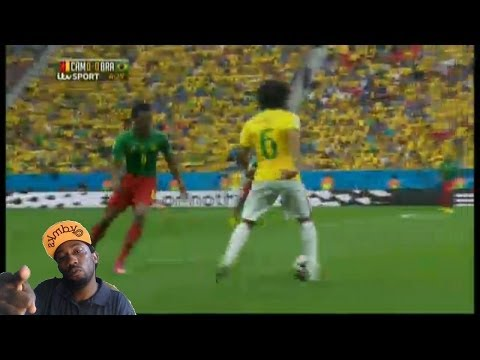 Cameroon vs Brazil  Brazil  wins 4-1 neymar with 2 goals Cameroon dirty full match stats recap