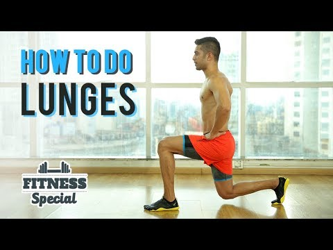 How To Do A LUNGE | Lunges for BEGINNERS | FITNESS SPECIAL | WORKOUT VIDEO