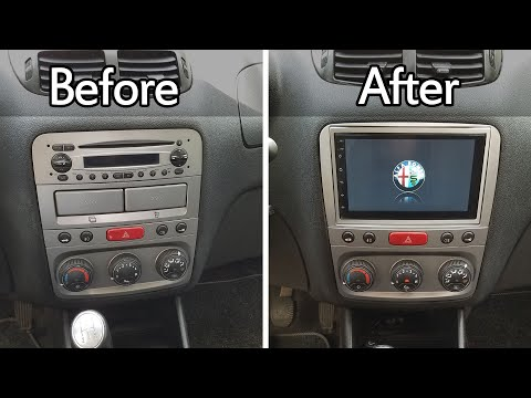 Alfa Romeo 147 GT Factory Radio Upgrade, How To Install 7 Inch Aftermarket Android Multimedia Player
