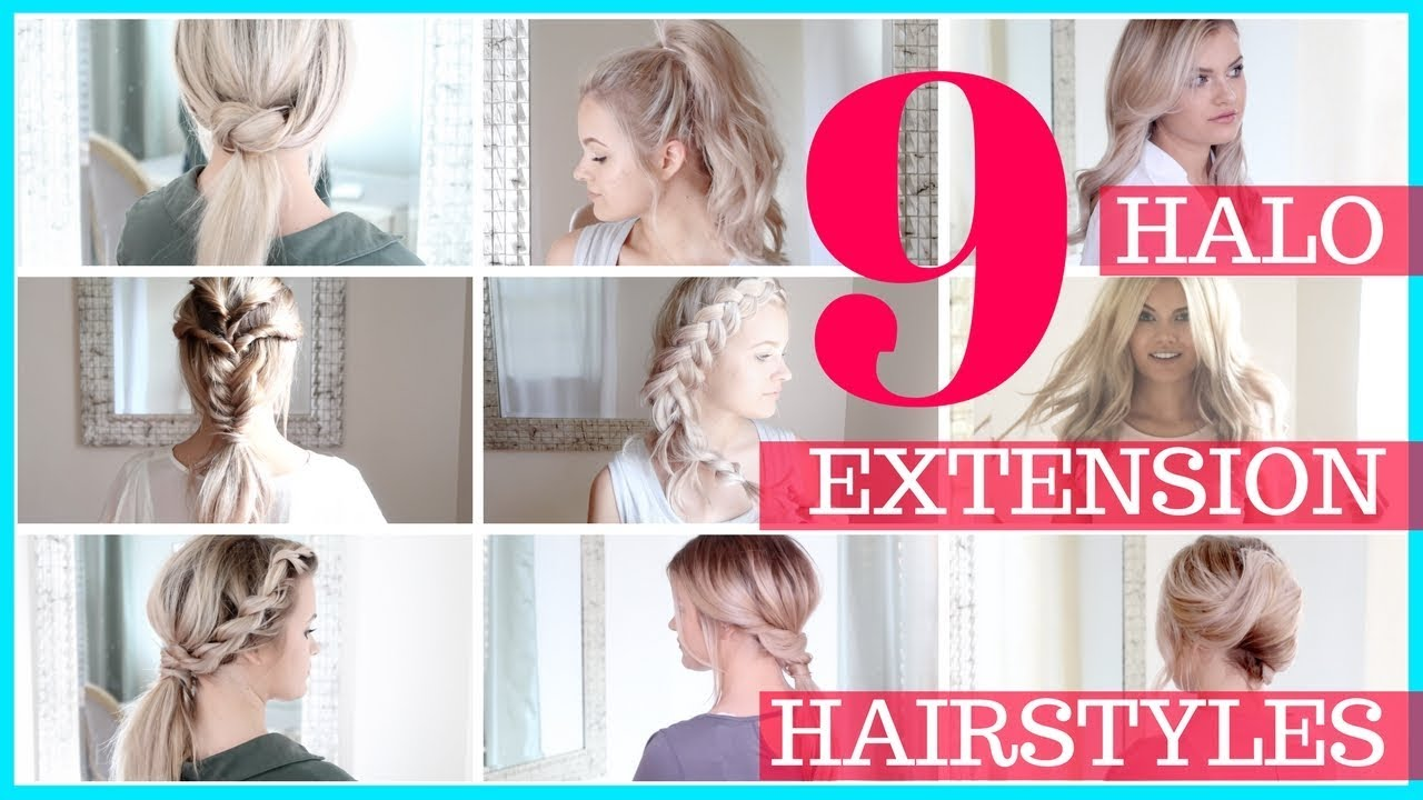 9 Halo Hair Extension Hair Styles Shannon Vanfleet Compilation