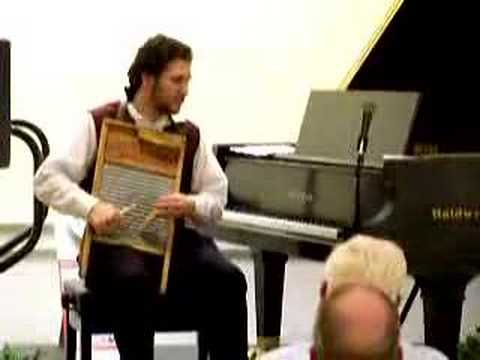 """Step It Up"" -- Tom Brier, piano; Andrew Barrett, washboard"