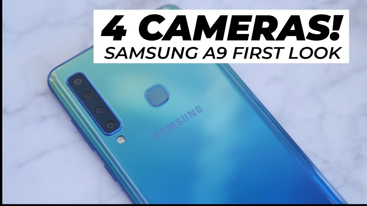 4 Cameras Samsung A9 2018 First Look Trusted Reviews Youtube