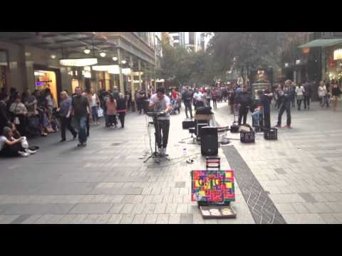 Sydney downtown musician
