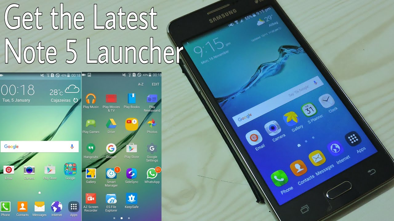 get galaxy note 5 launcher on grand prime youtube