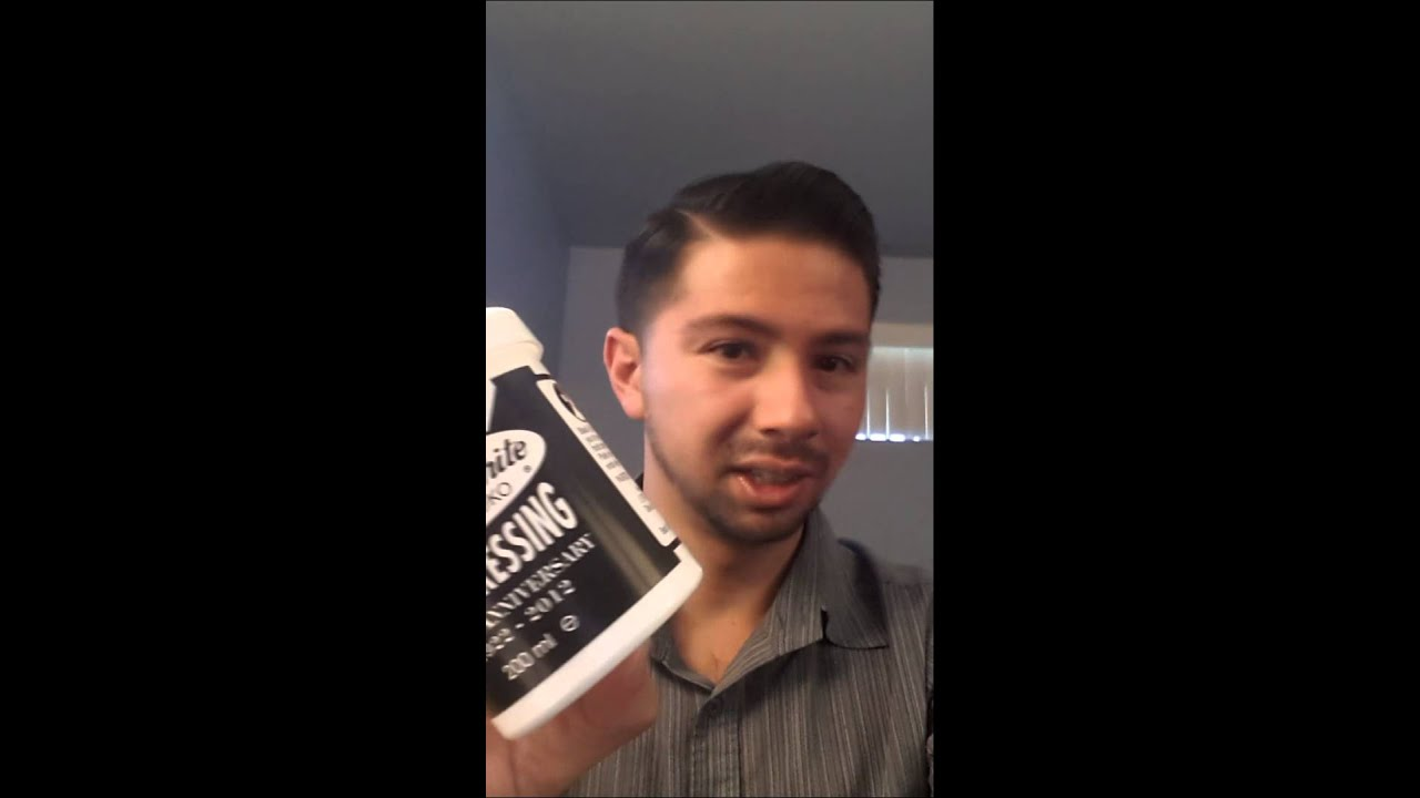 Pomade Review #1 Black and White Hair Dressing - YouTube