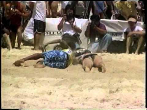 WINNING Beach Flag at the 2001 World Ocean Games (Hawaii)