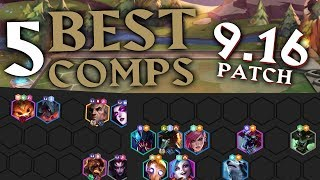 Top 5 BEST Team Comps for RANKED in Teamfight Tactics Patch 9.16