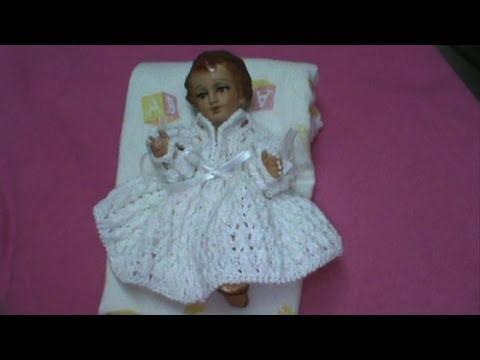 2 De 5 Como Tejer Vestido Niño Dios 2da Opcion Punto Olan Ganchillo Crochet