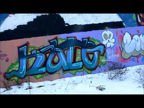 Massive graffiti wall in Dayton Ohio