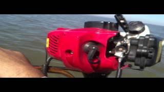 Kayak fishing motor homemade weedeater