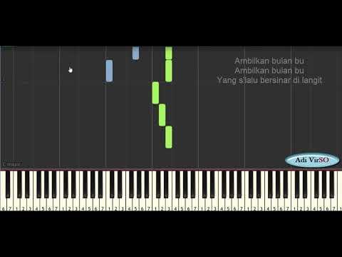 Belajar Piano - Ambilkan Bulan Bu Tutorial(Lagu Anak)