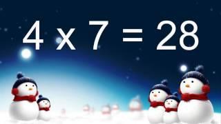 Таблиця множення числа 4 (з відповідями)