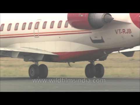 Air India flight on runway at IGI Airport