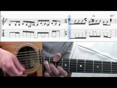 Paranoid Android(acoustic guitar)- Radiohead guitar TAB(How to play)