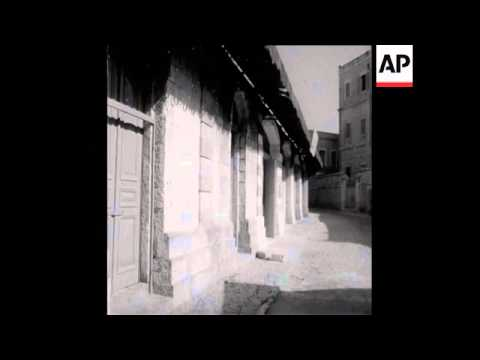 SYND 25/08/1969 ARABS PEOPLE STAGE A JERUSALEM STRIKE PROTESTING AT THE EL-AQSA MOSQUE FIRE