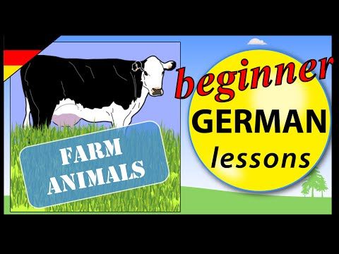 Farm animals in German | Beginner German Lessons for Children