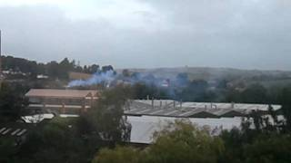 BLUE NOXIOUS SMOKE HEATHCOATS FACTORY 7/9/2011 7.20AM ON.......