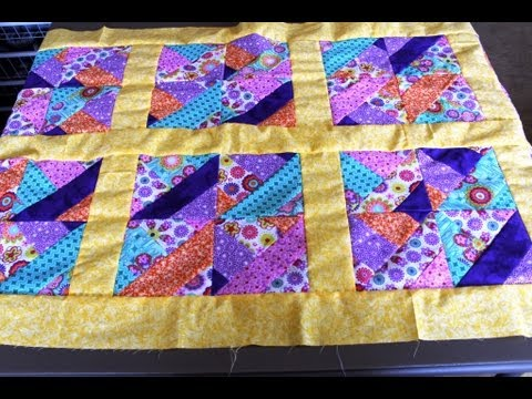 How to #sew #quilt squares borders- Jelly Roll quilt - YouTube : photo quilt squares - Adamdwight.com