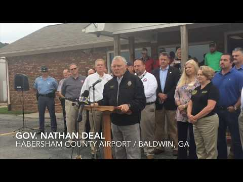 Gov. Nathan deal visits Habersham in wake of Tropical Storm Irma