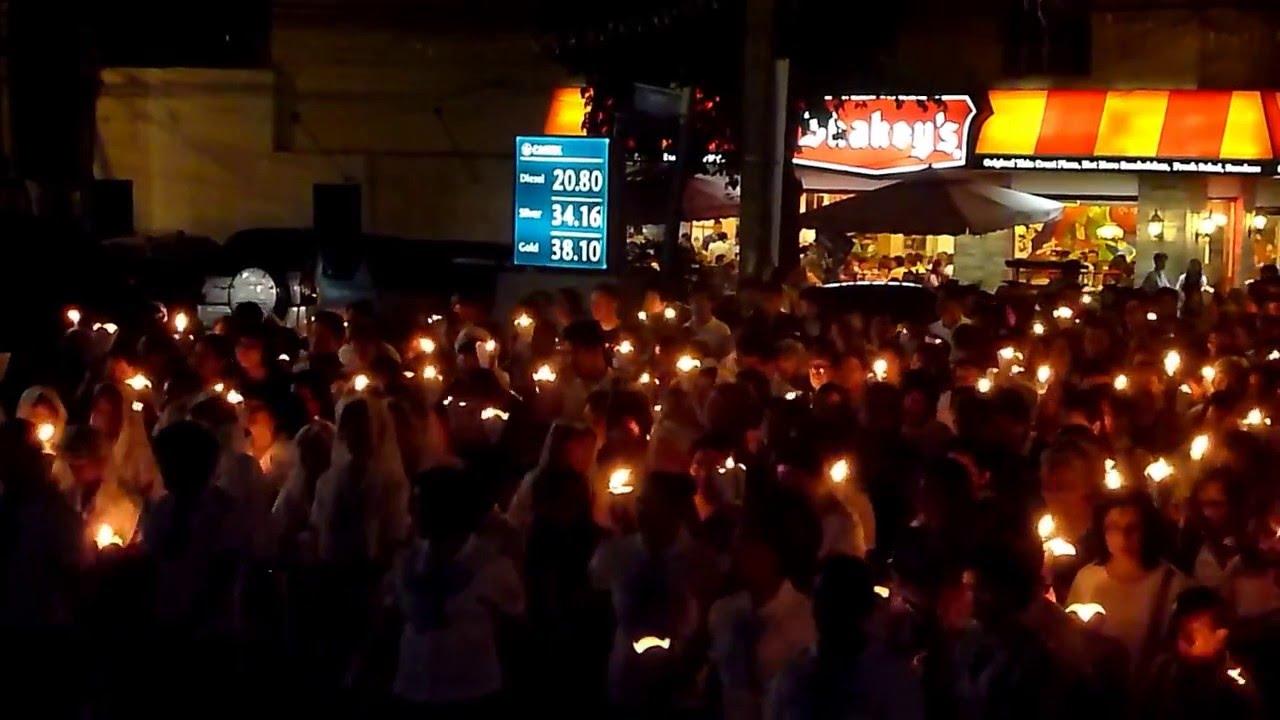 Image result for torch procession in lourdes, quezon city