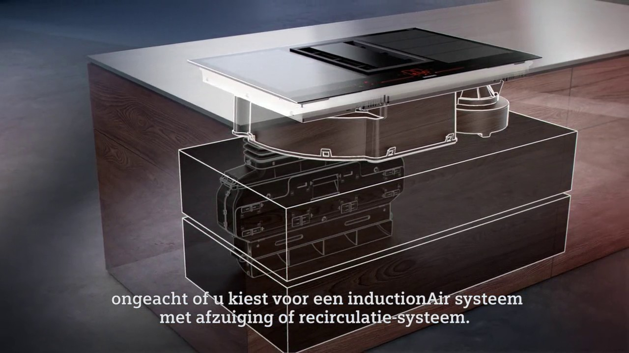 siemens inductionair innovatieve werkbladafzuiging youtube. Black Bedroom Furniture Sets. Home Design Ideas