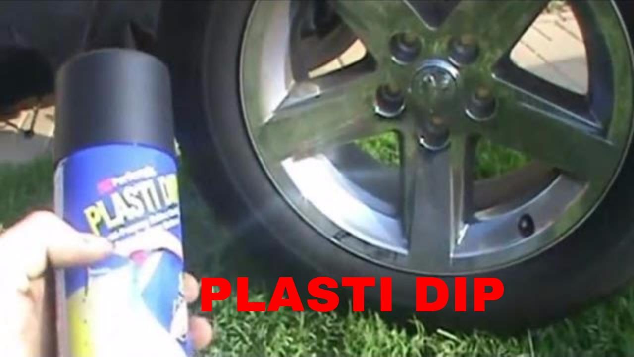 How To Plasti Dip Wheels Rims Video Youtube
