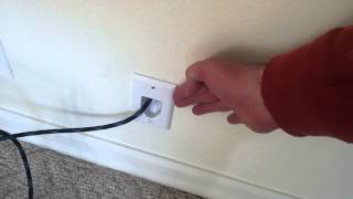 Using wall plate with behind the wall HDMI cable installation.