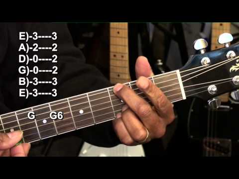 How To Play A Cool Progression Ending Chord  Lesson Tutorial G6 On Guitar