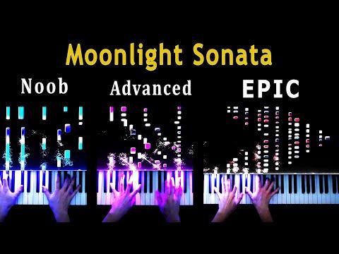 5 Levels Of Moonlight Sonata: Noob To Epic